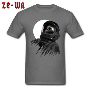 Dead Astronaut T-shirt Men Vintage Skull TShirt Discount Short Sleeve Gift T Shirts 100% Cotton Tops 90s Grey Tees Plus Size