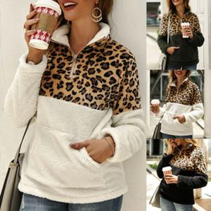 Imitación de las mujeres de piel caliente del oso de peluche Fleece señoras de la capa de la chaqueta con capucha suéter de abrigo