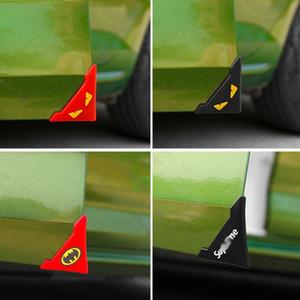 Arañazos protector de Protección Crash 2 piezas de silicona puerta de coche cubierta de la esquina resistente a los arañazos del coche-styling labraba moldeados de silicona Auto Care