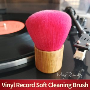 Turntables High Quality Wooden Handle Cleaning Soft Brush for Vinyl LP Player Accessories Turntables Consumer Electronics