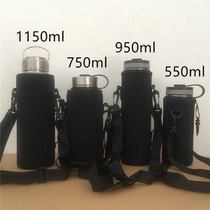 Bouteille d'eau en néoprène Sleeve extérieure Grande bouteille vide couverture isotherme non-Slip portable peut être Hung A03