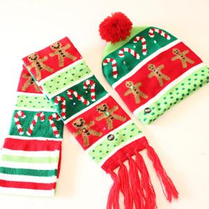Kinder gestrickten Schal und Hut Set Luxus-Winter-warme Häkeln Mützen und Schals mit realem Pelz Pom Beanie Mütze für Jungen und Mädchen