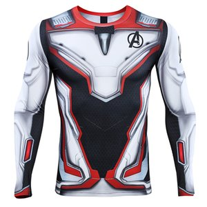 Avengers 4 Endgame Quantum War 3D Printed T shirts Men Compression Shirt Cosplay Costume Long Sleeve Tops For Male Fitness Cloth MX200509