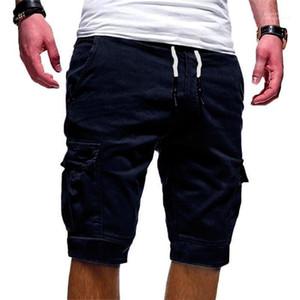Mens Pants Quinta Causal solto cordão joelho Shorts Mid Cintura Adulto Curto Calças Hot Pocket