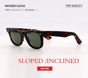 Glaslinse Retro-Sonnenbrille Frauen Männer Acetate 901 Sonnenbrille 2140 Quadrat Marke Nietentwurf Goggles elegante weibliche Platz Oculos 50mm gafas