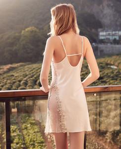 Designer Frauen sexy Dessous Sommer Verkauf von Luxus-Gaze Perspektive Pyjamas Qualitätsspitze backless reizvolle Pyjamas bequem linger