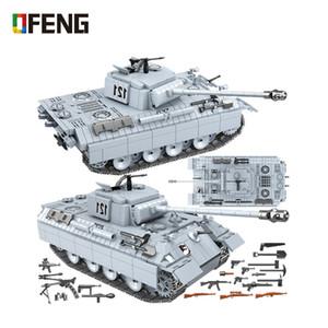 Военная Пантера танк 121 строительные блоки техника город WW2 танк солдат оружие армия 100064 кирпичи детские игрушки подарки