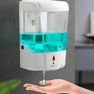 Sensor inteligente Touchless Dispensador 700ml automático de jabón de baño Alimentador del jabón líquido de manos libres Touchless dispensador del desinfectante KKA7901