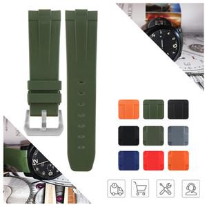 Panerai Erkekler Watch Bilezik Renkli Man Araçları Kamuflaj 24mm 26mm Yumuşak Silikon Kauçuk Watchband Dayanıklı Paslanmaz Çelik Pim Toka