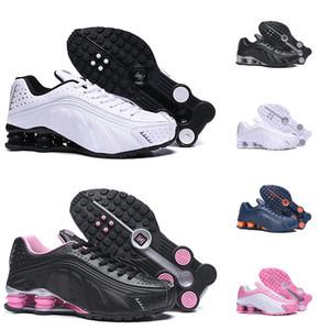 Nike Air Shox OG R4 Running Shoes OZ NZ 301 DELIVER Triple Negro Blanco Azul Naranja Plata Rojo Mujer Entrenador para hombre Ourdoor Athletic Zapatillas deportivas 36-46