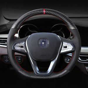 Top Leather Steering Wheel Hand-stitch on Wrap Cover For changan CS55 CS75 CS35