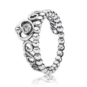 Аутентичные 925 Серебряных кольца Женщины Девушки ювелирные изделия для принцессы Tiara Короны кольца с оригинальной коробкой наборов обручального кольца