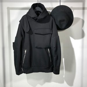 20ss 오웬 seak 남성면 후드 스웨터 고딕 양식의 남성 의류 봄 여름과 남성 솔리드 우편 후드 스웨트 셔츠 T200407