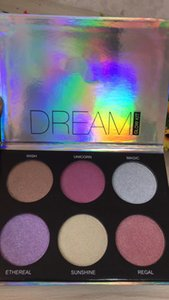 Wholesale Price!! 6 Colors Dream Glow Highlighter Palette An na Eyeshadow Bronzer Highlighter High Quality With Free Shipping