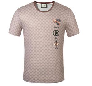 Erkekler klasik çizgili HJ GUCCİ T-Shirt Pamuk kısa kollu yeni geldi bayan erkek T-Shirt