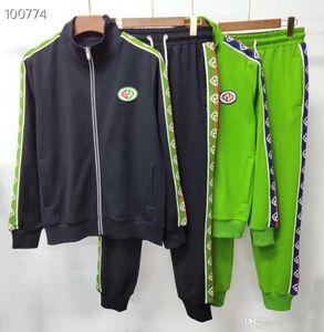 Tasarımcı Erkek Koşu Suit Erkekler Uzun kollu Ceket Tişörtü Spor takım elbise # 3 Medusa Baskılı Hoodies Kazak Slim Fit Eşofmanlar