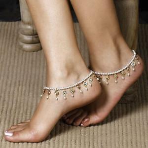 Wholesale-Kristallperlen Perlen Fußkette Quasten Fuß Schmuck barfüßigsandelholze Fußkettchen für Frauen und Mädchen C011