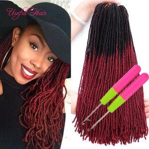 Soeur Locks Extensions de cheveux Crochet Braids Locs Slender Droite Diddess Faux Crochet Cheveux Sœur Synthétique Locs Crochet Hair Crochets gratuits