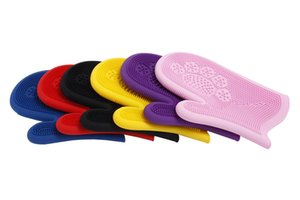 10PCS Colorful Pet Silicone Multi-function Gloves Grooming Dog Cat Cleaning Glove Brush Shedding Brush Wash Gloves