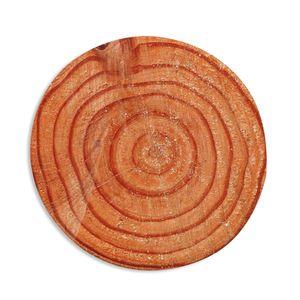 Runder Flanellholz-Jahresring Kaffee-Tee-Schalen-Tür-Matten-Halter-Auflage Natürlicher Baumjahresring-Holzfußbodencomputer Teppich-Mattehaus