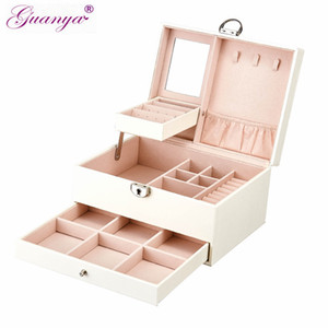 Оптовая черный белый изысканные ювелирные изделия деревянные организатор коробки ожерелье кольца ящик для хранения organizador решетки ювелирных изделий Бен 01153