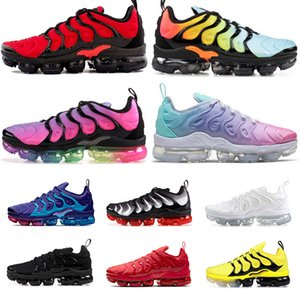 des chaussures nike air vapormax plus tn 2020 off white Taille 47 Hommes Femmes Stock x Chaussures de course Triple Noir Blanc Smokey BETRUE Speed Red Designer Sneakers Baskets