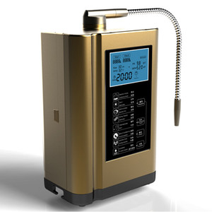El ionizador de agua alcalina más nuevo, la máquina del purificador de agua, la temperatura de la pantalla Sistema de voz inteligente 110-240V blanco, oro, colores azules
