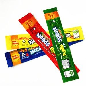Lerdos corda vazios da embalagem bas lerdos Corda doces Nerdsrope gomosos sacos Três borda de vedação de folha de saco edibles Embalagem de produtos alimentares