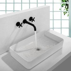 SKOWLL Bath parede Sink Toque Mixer Bacia de Banho bico Faucet com punho duplo