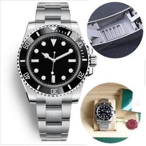 2019 mens 40 milímetros relógios 116610 Automatic Mechanical 2813 Gliding fivela Sapphire Vidro Cerâmica moldura inoxidável Mens Relógios