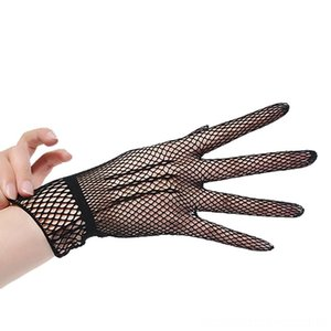 MUQGEW Women Summer UVProof Driving Dance Costume Lace Mesh Fishnet Cute Patchwork Mittens Guantes High Quality Gloves & Mittens Hats, Scar