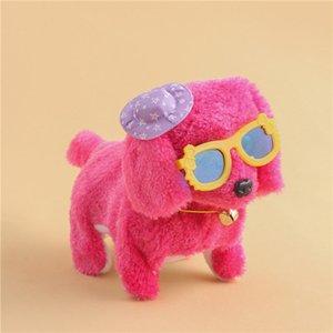 1Pcs Cute Cartoon Luminous Vocal Mobile Electronic Plush Dog Toys Creative Fashion Wear Clothes Stuffed Animals Fun Toys