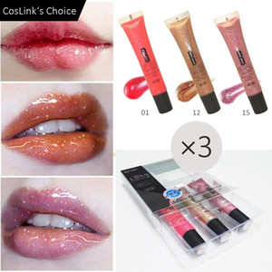 3pcs High Shine Lip Gloss Korean Crystal Moist Nude Lipgloss Plumper Long Lasting Shimmer Lips Makeup