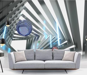 Custom wall paper 3D stereoscopic Simple and stylish background wall painting New decoration Line ball 3d wallpaper sticker