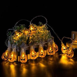 10 LED معلق هالوين ديكور القرع / الشبح / العنكبوت / الجمجمة LED أضواء سلسلة الفوانيس مصباح للتجهيزات DIY الرئيسية الطرف في الهواء الطلق