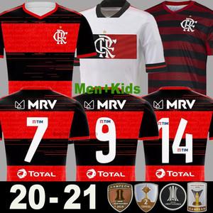 2020 2021 CR Flamengo Fußball Trikot GUERRERO DIEGO EDERSON VINICIUS Männer Kinder Frauen 20 21 jersey Camiseta de fútbol weg weiß Fußball Thailand Qualität Camisa de Futebol