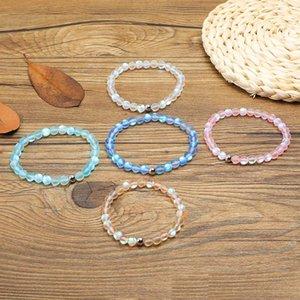 Nuevo Spectrolite Bling Stone Bead Bracelet Pink Blue Green Natural Stone Beads Yoga Balance pulsera para mujeres niñas joyería de Buda