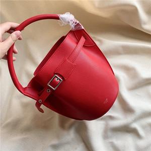 Mode de nouvelles femmes rétro vrai sac seau en cuir 20cm mignon sac span oblique Mini style décontracté simple, un titulaire de la carte de portefeuille de sac à main d'épaule