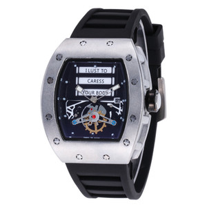 Leisure style RICHARD Luxury Fashion Skeleton Watches Men or Women Skull sport Quartz Watch Big Bang hot Mens Quartz Watches Three color