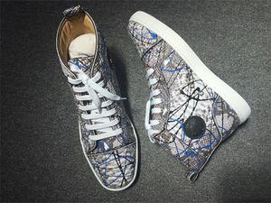 Christian Louboutin casual shoes NEW 2020 progettista кроссовки Red Bottom ботинка верх.част Замша Spike Luxe обувь для мужчин и женщин обуви партии Свадебных кожаных кроссовок