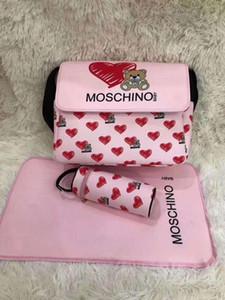 Bebê Designer sacos das fraldas com interface USB de grande capacidade impermeável Fralda Bag Kits Mummy Maternidade Bag + mudança Mat + Titular engarrafadora