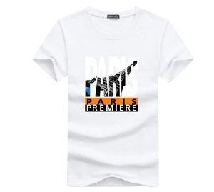 womens concepteur t-shirts vêtements T-shirt de vêtements blancs Paris à manches courtes femme bande dessinée couple hommes de coton de coton lâche impression T-shirt