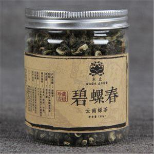 vendas quentes 80g chá verde orgânico chinês Canned Biluochun Raw Saúde Tea Nova Primavera fresco Perfumado Chá Verde Food Factory Direct Vendas