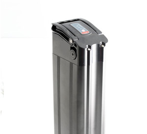 Tube de selle batterie poisson ebike argentée rechargeable 48v 10Ah tu batteries 20AH au lithium pour moteur 250W à 1000W avec chargeur Livraison gratuite