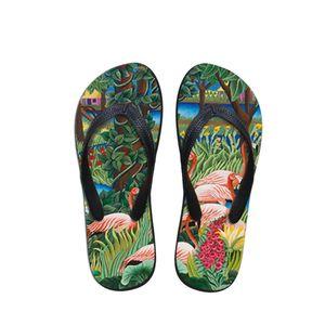 Летний пляж Вьетнамки Женщины тапочки сандалии моды Картина печати Lady Flats обувь Henri Rousseau нравится мастер штук