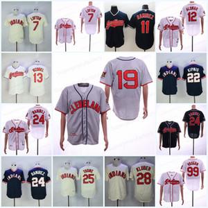 Herren 13 Vizquel 7 Lofton Trikot 12 99 Raughn 24 25 JIM THOME 28 Corey Kluber 11 Jose Ramirez 22 Kipnis Baseball Trikots