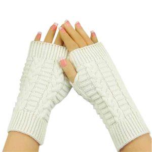 Gloves Fashion Knitted Arm Fingerless Winter Gloves Unisex Soft Warm Mitten High Quality Casual Gloves Women 2019