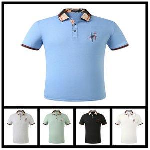 Men's Style Summer New Men Polo Printed Fashion Polo Shirts Men Short Sleeved Polos Free shipping m-3xl
