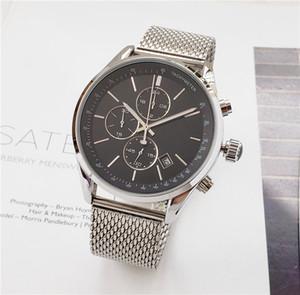 BOSS İzle lüks erkek saatler Tüm işaretçi çalışma fonksiyonel kronograf kuvars İzle paslanmaz çelik kayış su geçirmez tasarımcı kronometre
