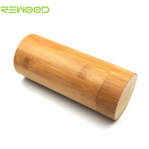 Wooden box bamboo case glasses case wood cylinder bamboo sunglasses box printable